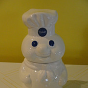 SOLD 1988 Vintage Pillsbury Doughboy poppin fresh ceramic Cookie Jar free shipping