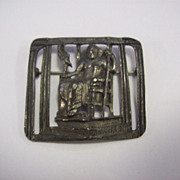 Rare silver tone Signed Coro Pharos Lighthouse Brooch!!! Alexandria Egypt