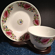 SALE Cup & Saucer-Antique Fine Bone China Hand Painted