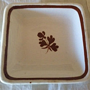 Royal Stone China - Wedgwood Tea Leaf Luster Butter Pat - 1800's