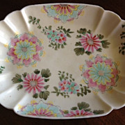 "SALE Chinese Antique Famille Rose Dish - 10"" long"