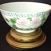 "SOLD Chinese Porcelain Bowl - 1850's 6-1/4"" diameter"