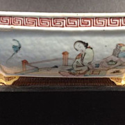 SOLD Chinese Porcelain Tureen-Women on four panels-early 1800's