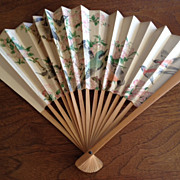 SALE Chinese fan - birds & flowers