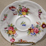 "SALE Coalport- porcelain rose decorated small plate - 5-1/2"" diameter"