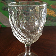 "SALE Cordial glass thumb print design - 4-1/8"" tall"
