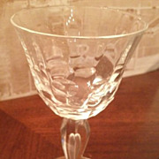 SALE Cordial/wine glass - circles and thumb print design - 5 inches high