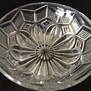 "SALE Cut crystal small antique bowl - 1-3/8"" high"