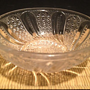 "EAPG Sauce/Honey Dish 4"" in diameter - Feather pattern"