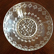 "SALE EAPG Small Clear Dish 3-3/4"" diameter"