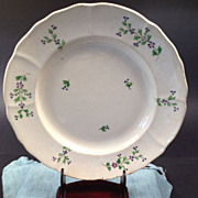 Hand painted Chantilly Sprig Plate - Circa Mid 1855