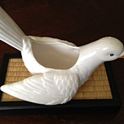 SALE Fitz and Floyd Inc. white dove vase 7-1/2 inches long