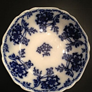 SALE Flow Blue Johnson Bros Antique Semi Porcelain Plate-ca:1883