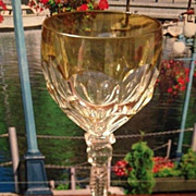 SALE Glass cordial with gold trim