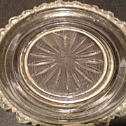 "SALE Glass trinket dish - antique / 3"" diameter"