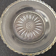 "SALE Glass trinket dish 3"" in diameter/antique"