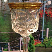 SALE Glass with gold cordial