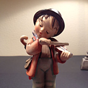SALE Hummel Pottery Figure - Boy with Violin/Fiddle