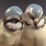 SALE Hutschenreuther Porcelain Figure Group of Two Birds