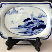 "SALE Japanese Porcelain Dish -7"" long - Late 19th Century"