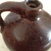 Little Brown Jug - 2-1/2&quot; tall - antique