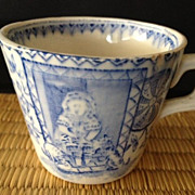 SALE Porcelain Blue & White Small Cup - 2&quot; high - antique