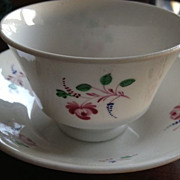 SALE Porcelain rose cup & saucer/antique