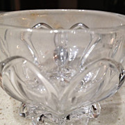 "Punch cup -EAPG/U S Glass Co. ""Church Window"" pattern with handle, clear glass with"