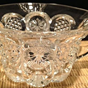 "Punch cup-cut crystal antique - 2"" high"