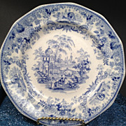 Podmore Walker & Co - Antique Blue & White Plate