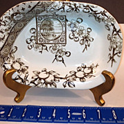 Ridgeways Dado Pattern Dish Antique- Circa 1885