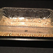 Rosette & Beads Pattern Candy/Small Serving Dish_ca:1800's