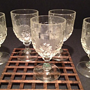 Roman Rosette Goblets-set of six-ca:1875-1898 Antique