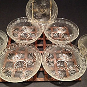 Rosette & Swirl Pattern (7) Nut/Fruit Dishes....circa 1800's