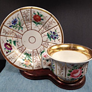 SPM Porcelain Cup & Saucer -Ca: 1850