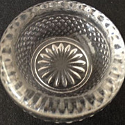 Salt cellar/open salt - antique/round 1-7/8 diameter