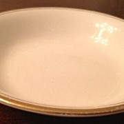 SALE Cup plate - J & G Meakin - White w/ gold trim