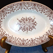 T & R BOOTE -Transferware Ironstone Oval Dish-1885