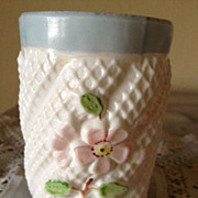 SOLD Northwood Netted Apple Blossom Pattern - Tumbler ca:1895