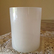 Opal Glass Tumbler or spooner -  Smooth - Late 19th Century