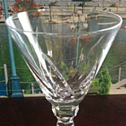 SALE Wine or cordial glass w/cut glass stem - 5-1/2 inches tall