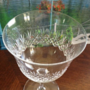 SALE Wine or cordial glass - diamond and wheat pattern