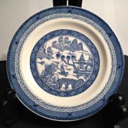 Wood & Sons  England Blue & White Canton Dish - 6""