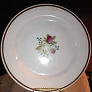Plate-W.H Grindley & Co. - Copper Lustre/Moss Rose Decoration