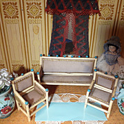 Doll House Sofa and Two Chairs