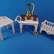 Kilgore Doll House Table, Beverage Cart , Crib
