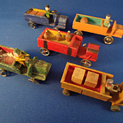 Set of Five German Erzgebirge Vehicles