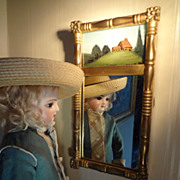 Miniature Eglomise Mirror