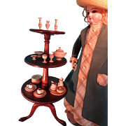 Miniature Mahogany Dumb Waiter for French Fashion