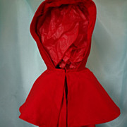 Shaker Child's Red Wool Cloak